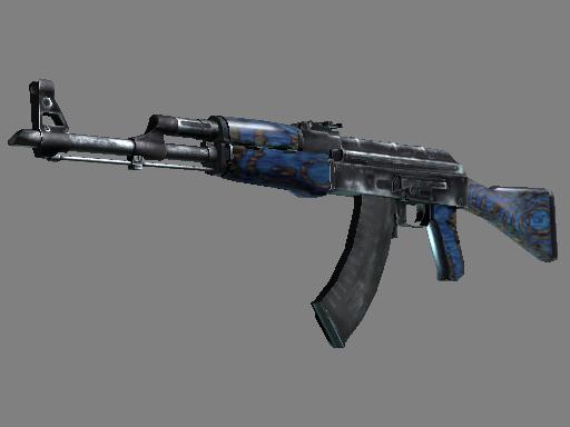 AK-47   Blue Laminate (Minimal Wear)