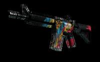 StatTrak™ M4A4   Cyber Security (Battle-Scarred)