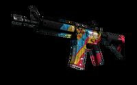 StatTrak™ M4A4 | Cyber Security (Well-Worn)