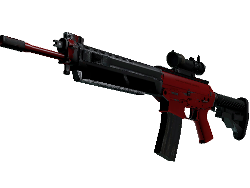 SG 553 | Candy Apple (Well-Worn)