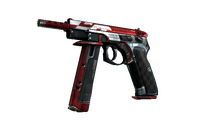 CZ75-Auto | Red Astor (Well-Worn)