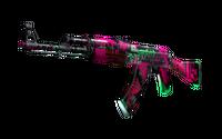 AK-47   Neon Revolution (Battle-Scarred)