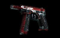 CZ75-Auto | Red Astor (Well-Worn)
