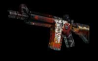 StatTrak™ M4A4 | Hellfire (Minimal Wear)