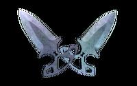 ★ Shadow Daggers | Blue Steel (Well-Worn)