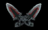 ★ Shadow Daggers | Crimson Web (Battle-Scarred)