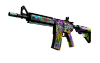StatTrak™ M4A4 | In Living Color (Well-Worn)