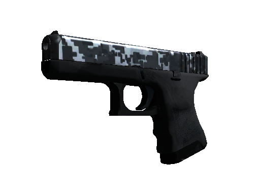 Glock-18 | Steel Disruption (Minimal Wear)