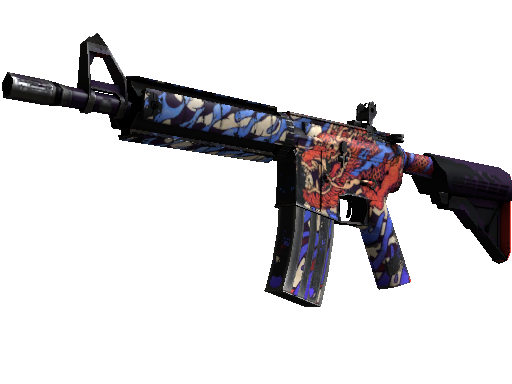 StatTrak™ M4A4 | 龍王 (Dragon King) (Well-Worn)