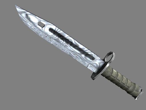 ★ Bayonet   Damascus Steel (Well-Worn)