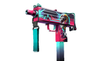 MAC-10 | Neon Rider (Well-Worn)