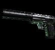 USP-S   Едва зеленый (Закаленное в боях)