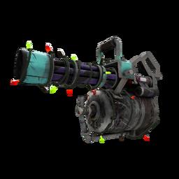 Festive Macabre Web Minigun (Battle Scarred)