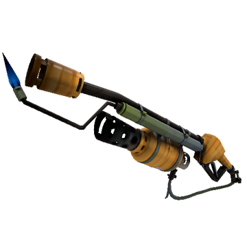 Pumpkin Patch Flame Thrower TF2 Skin Preview