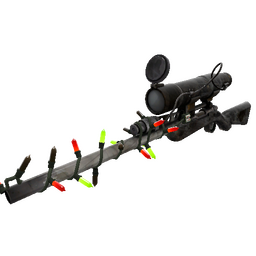 Festive Shot in the Dark Sniper Rifle (Battle Scarred)