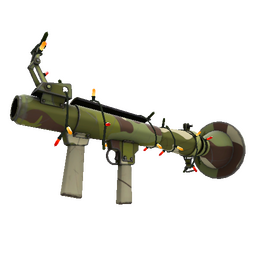 Festive Specialized Killstreak Woodland Warrior Rocket Launcher (Minimal Wear)