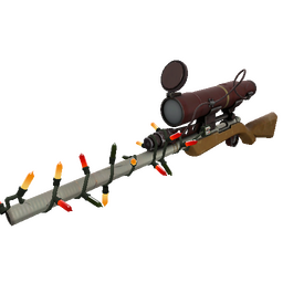Strange Festive Specialized Killstreak Coffin Nail Sniper Rifle (Minimal Wear)