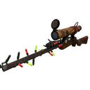 Strange Festive Killstreak Dressed to Kill Sniper Rifle (Well-Worn)