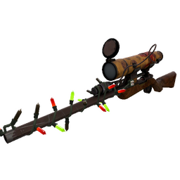 Strange Festive Dressed to Kill Sniper Rifle (Well-Worn)