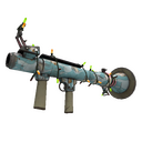 Unusual Festive Professional Killstreak Blue Mew Rocket Launcher (Field-Tested)