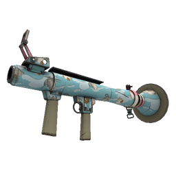 Strange Specialized Killstreak Blue Mew Rocket Launcher (Minimal Wear)