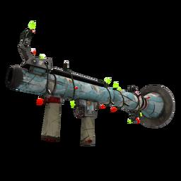 Festive Blue Mew Rocket Launcher (Battle Scarred)