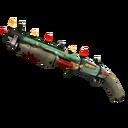Unusual Festive Professional Killstreak Flower Power Shotgun (Battle Scarred)