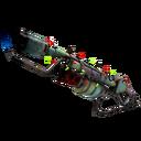 Strange Festive Rainbow Flame Thrower (Battle Scarred)
