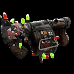 Strange Festivized Specialized Killstreak Carpet Bomber Stickybomb Launcher (Battle Scarred)