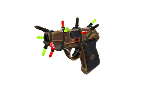 Strange Festivized Specialized Killstreak Local Hero Pistol Well Worn
