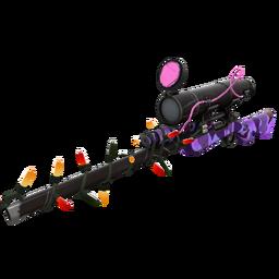 Strange Festivized Professional Killstreak Purple Range Sniper Rifle (Field-Tested)