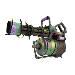 Festivized Brain Candy Minigun (Battle Scarred)