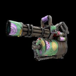 Strange Killstreak Brain Candy Minigun (Well-Worn)