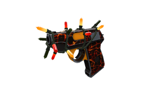 Strange Festivized Killstreak Shot To Hell Pistol Minimal Wear