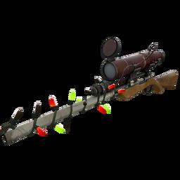 Strange Festivized Killstreak Coffin Nail Sniper Rifle (Field-Tested)