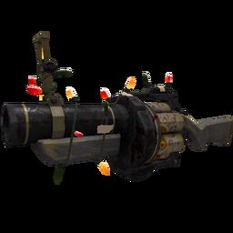Festivized Top Shelf Grenade Launcher (Battle Scarred)
