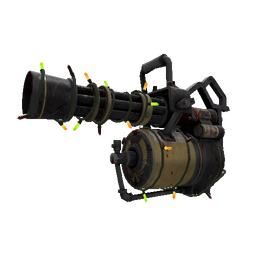 Festivized Top Shelf Minigun (Battle Scarred)