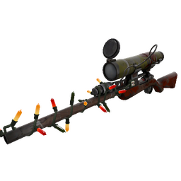 Festivized Wildwood Sniper Rifle (Battle Scarred)