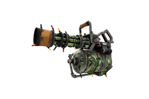 Strange Festivized King Of The Jungle Minigun Well Worn