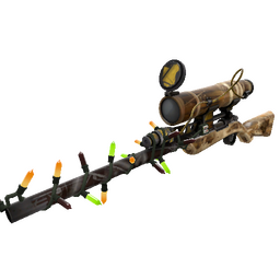 Festivized Killstreak Lumber From Down Under Sniper Rifle (Battle Scarred)