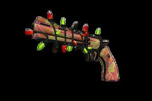 Strange Festivized Professional Killstreak Psychedelic Slugger Revolver Minimal Wear