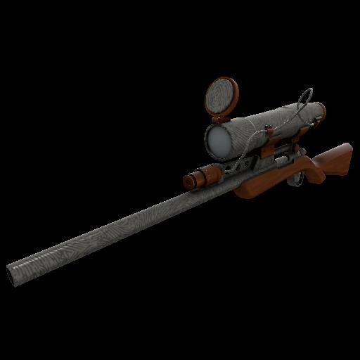 Damascus & Mahogany Sniper Rifle