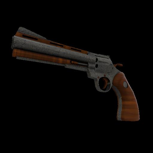 Damascus & Mahogany Revolver