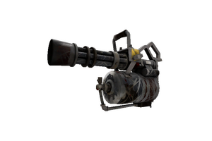 Iron Wood Minigun Battle Scarred