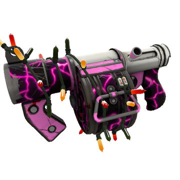 Festive Killstreak Pink Elephant Stickybomb Launcher (Field-Tested)