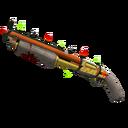 Unusual Festive Professional Killstreak Lightning Rod Shotgun (Field-Tested)