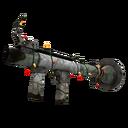 Unusual Festive Professional Killstreak Aqua Marine Rocket Launcher (Battle Scarred)