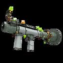 Unusual Festive Professional Killstreak Aqua Marine Rocket Launcher (Minimal Wear)