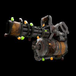 Strange Festive Brick House Minigun (Battle Scarred)