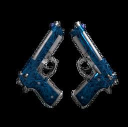 Souvenir Dual Berettas | Cobalt Quartz (Minimal Wear)